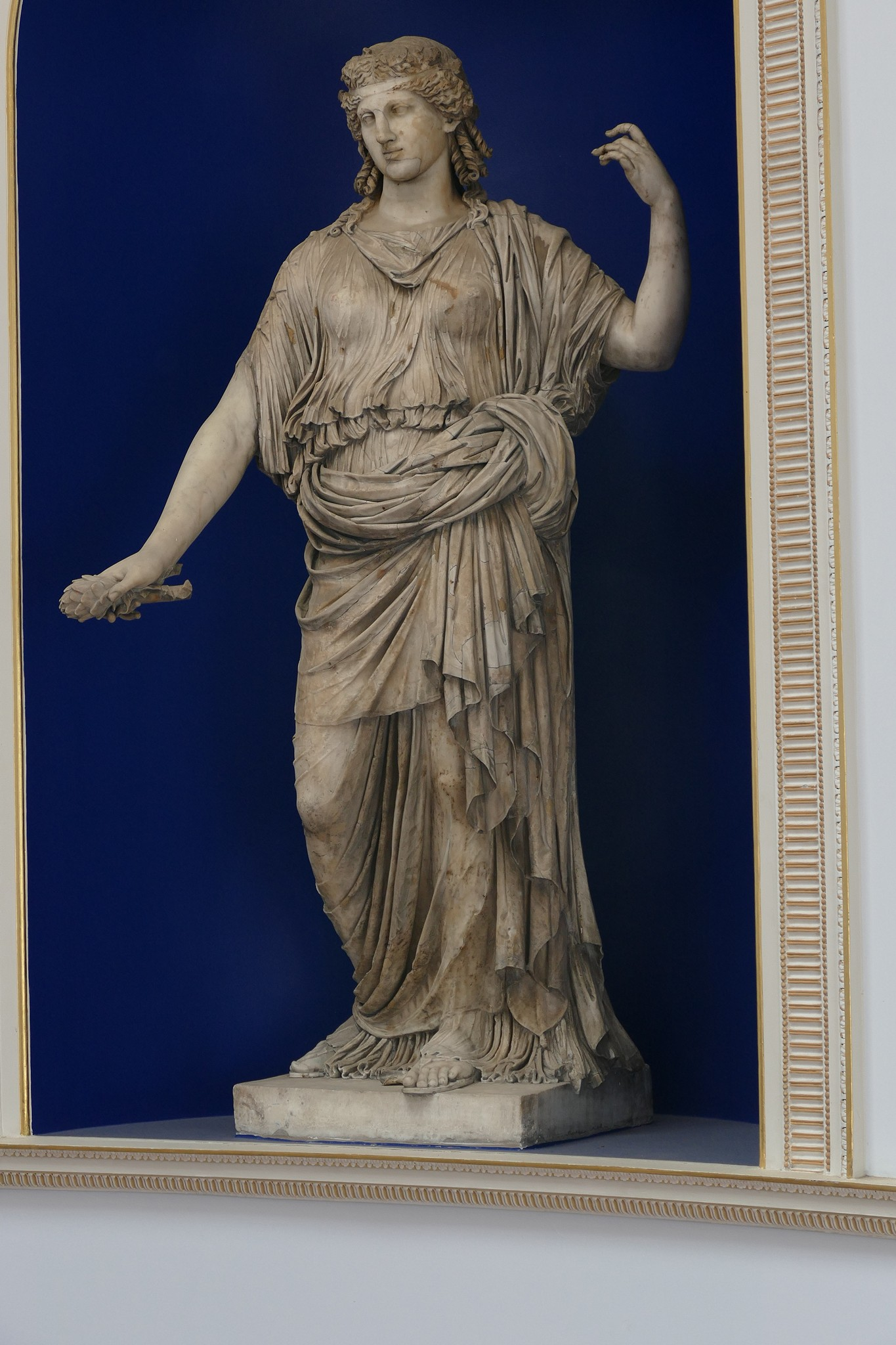 Statue of Ceres on the Staircase. It is reputed to be from Herculaneum.