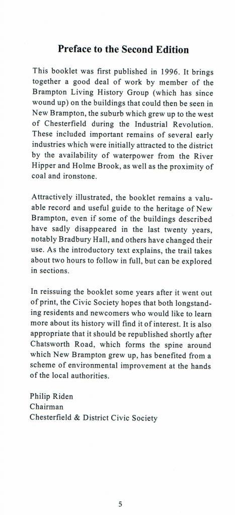 Brampton Trail 2nd Edition Preface