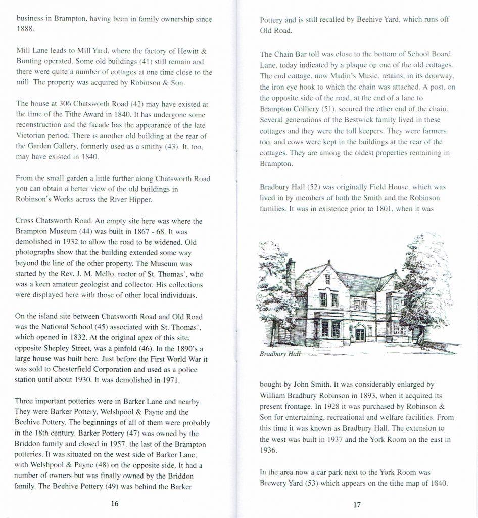 Brampton Trail Page Sample
