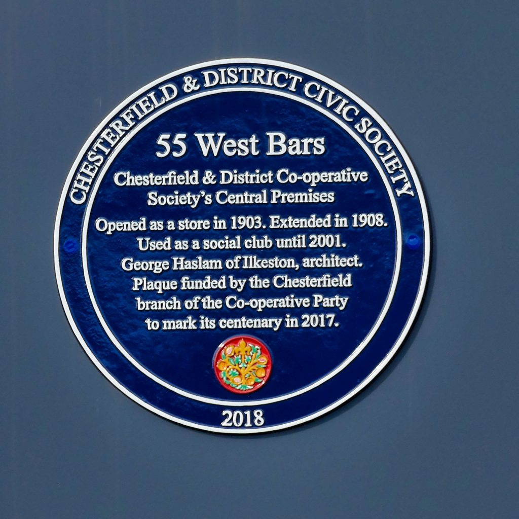 Co-op Plaque West Bars Chesterfield